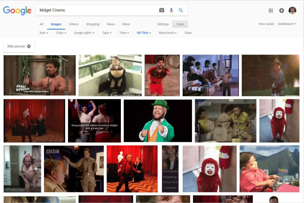 the list of images